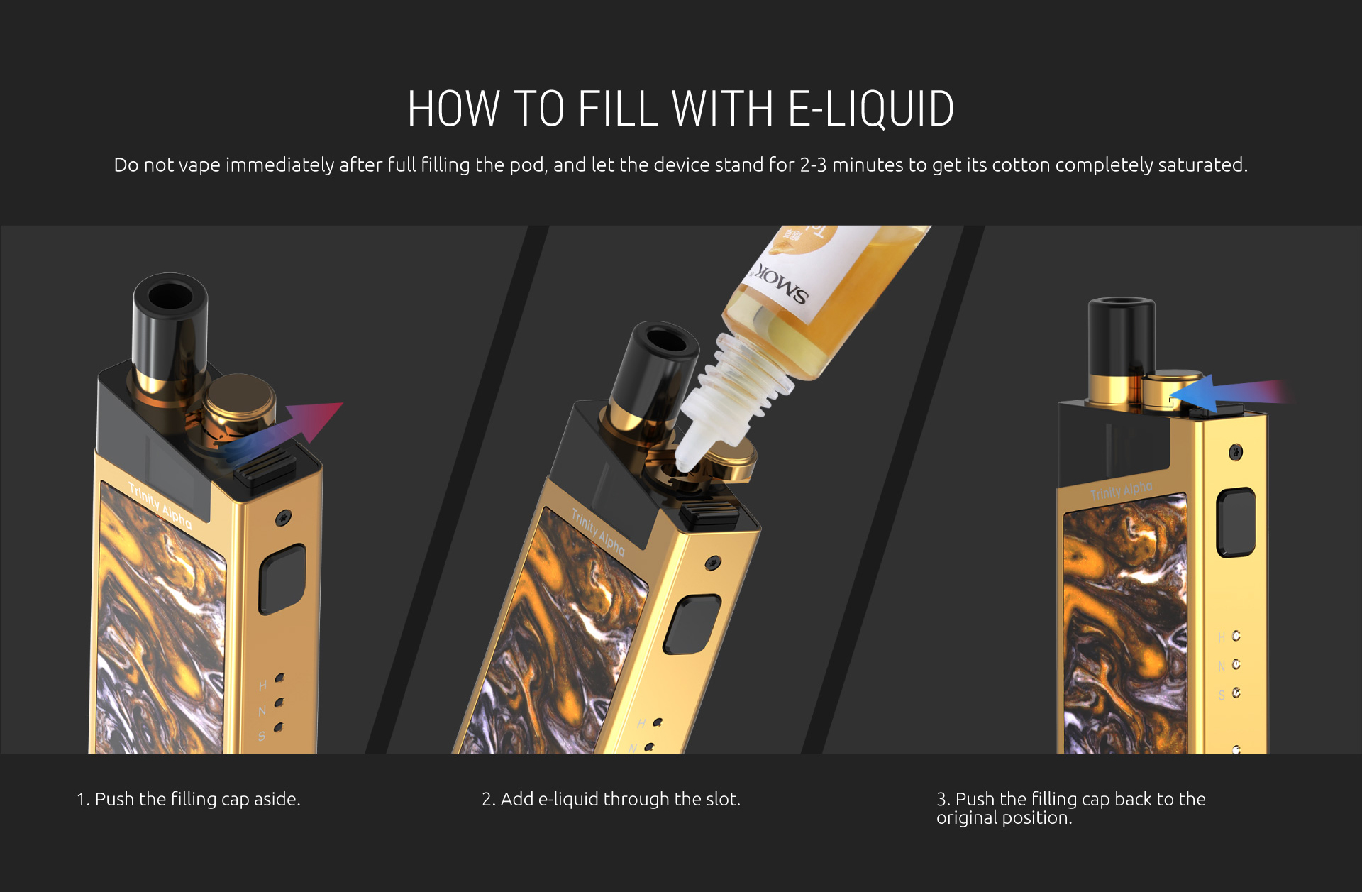 How to refill SMOK Trinity Kit