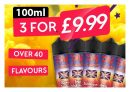 Top Vape Deal Any 3 x 100ml ONLY £9.99