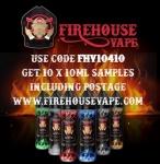 Firehouse Vape – 10 x 10ml Samples (100ml Total) posted for £10