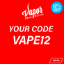 12% OFF YOUR ORDER CODE: VAPE12