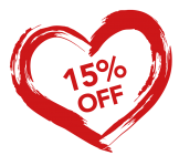 15% OFF ALL WEEKEND
