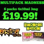 Multipack Madness Lemonade Nation & Dripd Coil Fuel 6 Packs 240ml! £19.99