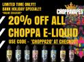 20% Off All Choppa E-Liquids And Deals
