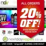 20% Off Discount Code for NextDayVapes.co.uk