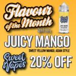 Sweet Vapes FOTM – Juicy Mango – 20% off – 100ml £7.70