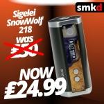 Sigelei SnowWold 218 now £24.99