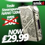 Tesla Nano 120W Steampunk NOW £29.99