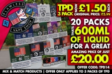 Flawless 3 x 10ml Packs £1.50 each, 20 packs for £20