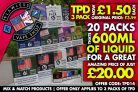 3 x 10ml – 20 boxes for £20 at Flawless Vape Shop