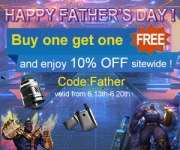 Vapesourcing Father's Day Sale! Buy One Get One Free And Extra 10% Off!
