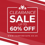 Up To 60% Off at Vampire Vape!! 🎉