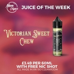 NovaVapes Juice Of The Week: Victorian Sweet Chew – £3.49 for 50ml + FREE nicotine shots!