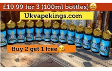 Juice Kings E-Liquid – Buy 2 Get 1 Free only £19.99 for 3 X 100ml Bottles