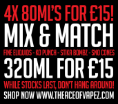 4x 80ML'S FOR £15!