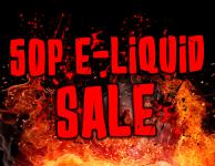 50p E-liquid Sale Now Live!