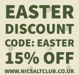 15% off over Easter weekend at Nic Salt Club