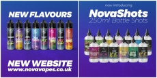 NovaVapes – NEW website, flavours and NovaShots!