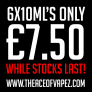 6x10ML'S NOW ONLY £7.50!