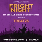 25% off ALL Vampire Vape E-liquid 🎉