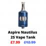 Aspire Nautilus 2S Vape Tank NOW £7.99