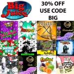 30% off all big juice concentrates
