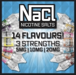 NaCl nicotine salts from £1.70  – 14 flavours & 3 strengths