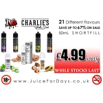 ⚡️ BEST PRICE IN UK ⚡️ CHARLIES CHALK DUST & IVG £4.99
