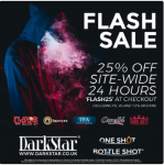 25% off at DarkStar Vapour for limited time!