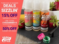 15% off Juice at Vape Wild!