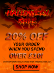 20% OFF ENTIRE WHEN YOU SPEND £10 or more!