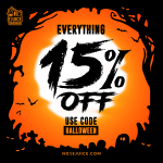 15% OFF Everything! – Halloween week is here!