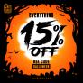 15% OFF Everything! – Halloween week is here!