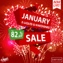 January Sale Now on UP TO 82% OFF!