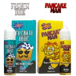 French Dude & Pancake Man 50ml Eliquid Shortfills – £2.99