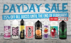 25% off ALL juices at www.theaceofvapez.com using code PAY25