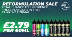 NovaVapes Reformulation SALE – £2.79 for 60ml!