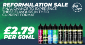 NovaVapes Reformulation SALE – £2.79 for 60ml!
