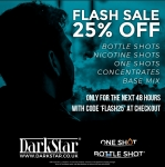 25% off at DARKSTAR VAPOUR