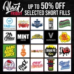 Black Friday Sale – 50% off Short Fills – TABlites