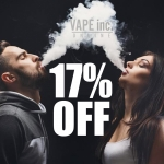 17% off EVERYTHING at VAPE INC ONLINE