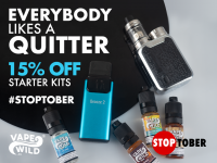 STOPTOBER DEALS 15% off Kits, Pods, Pens / 20% off e-liquid
