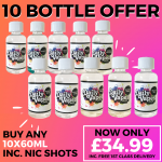 DAILYVAPES – 10 Bottle Bundle inc. Nic Shots ONLY £34.99 Delivered