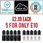 TABlites High VG and 50/50 E-Liquid – 5 for £10 – TABlites.com