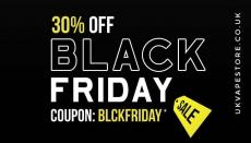 Black Friday Vape Deals 30% Discount at UKVAPESTORE.CO.UK