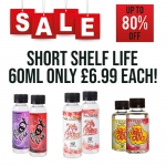 60ml Short Fills – £6.99 each at TABlites