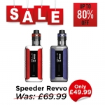Aspire Speeder Revvo Kit + 50ml Short Fill – £49.99 at TABlites
