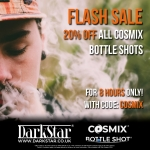 20% OFF COSMIX AT DARKSTAR VAPOUR