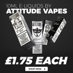 Attitude Vapes 10mls ONLY £1.75