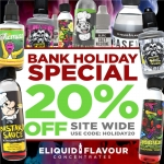 20% OFF Bank Holiday Special!