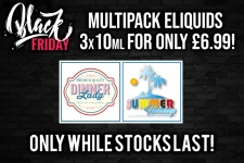 Dinner Lady and Summer Holiday Multipacks – £6.99 for 30ml – TABlites